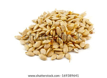 a pumpkin seeds close up