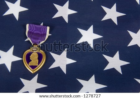 A Purple Heart 04 (memorial day series) - stock photo