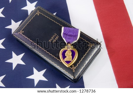 A Purple Heart 13 (memorial day series) - stock photo