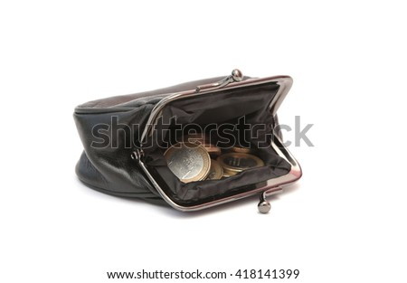 A purse filled with money - stock photo
