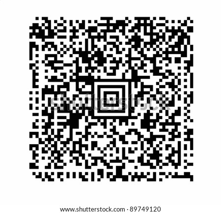 a QR code with attention to realistic detail such as uniform black modules and exact alignments. - stock photo