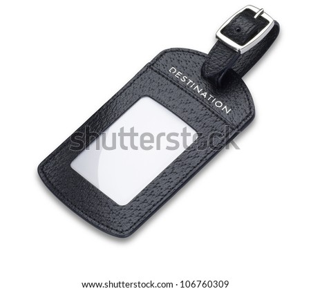 Leather Luggage Tag Stock Images, Royalty-Free Images & Vectors ...