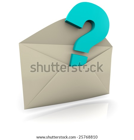 A question mark symbol inside an envelope