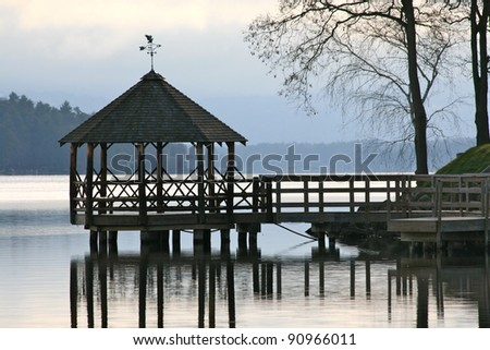A quiet late Autumn day in Meredith New Hampshire - stock photo