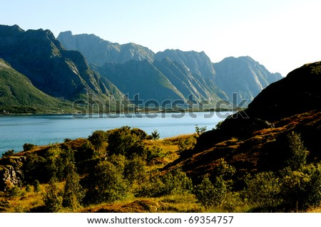 a quiet place in the nature in a european northern country - stock photo