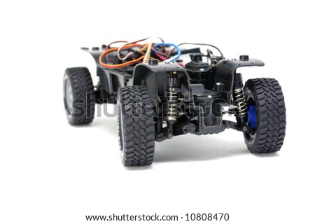 A radio control car without the body. - stock photo