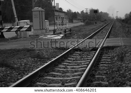 A railroad in the day that nobody cross it