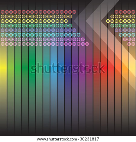A rainbow colored abstract design template or layout. - stock photo