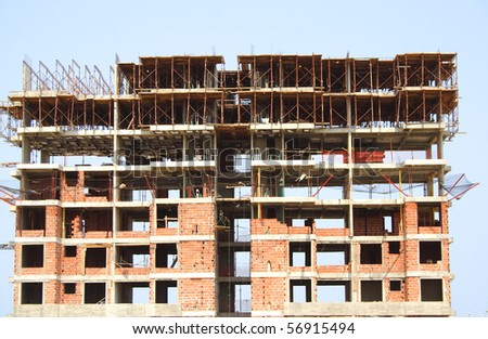 A random building under construction - stock photo