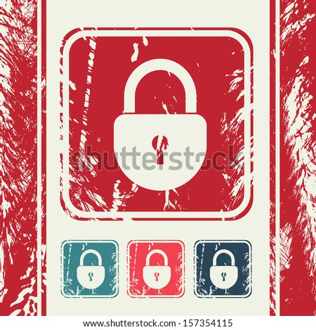 a raster version of creative icon in grunge style - stock photo