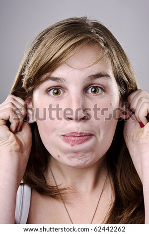 A real funny face captured in high detail (see portfolio for more in this series) - stock photo