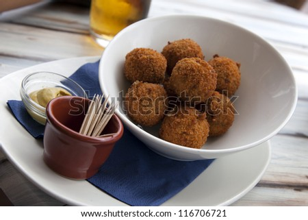 "A real traditional Dutch snack called ""bitterball"