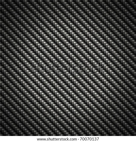 A realistic carbon fiber background that tiles seamlessly as a pattern in any direction. - stock photo