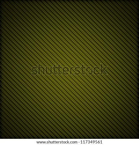 A realistic green carbon fiber weave background or texture - stock photo