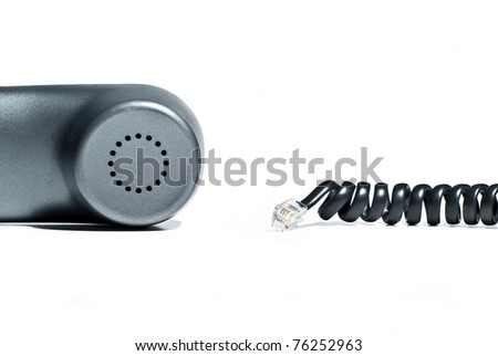 a receiver with cable on white background