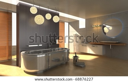 A reception room.render - stock photo