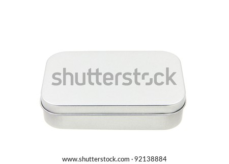A rectangular aluminum closed case - stock photo