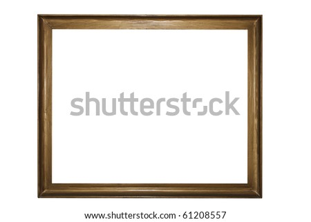 A rectangular wooden picture frame - stock photo