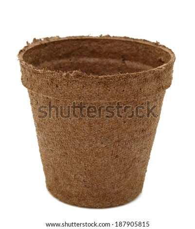A recycle paper Peat Pot - stock photo