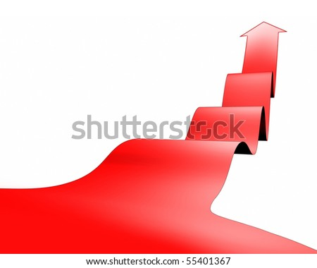 a red arrow background - stock photo