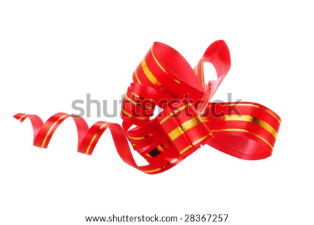 A red bow is decor for celebration day of Snt. Valentine