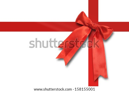 A red bow with a clipping path isolated on white.