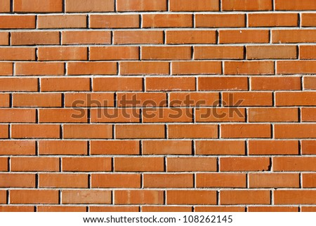 a red brick wall for background use - stock photo