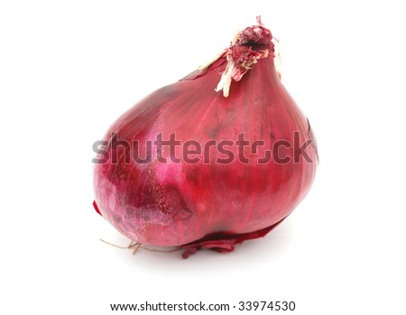 a red bulb of onion