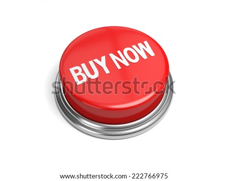 A red button with the word buy now on it - stock photo