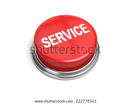 A red button with the word service on it - stock photo