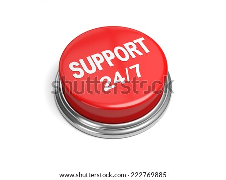 A red button with the word support on it - stock photo