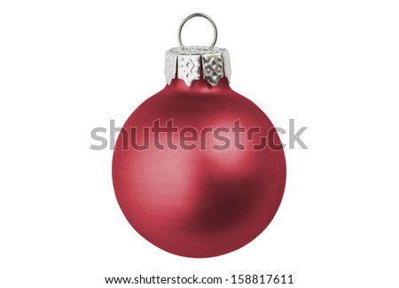 A red christmas bauble. - stock photo