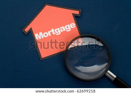a red home sign,  Real Estate Concept - stock photo
