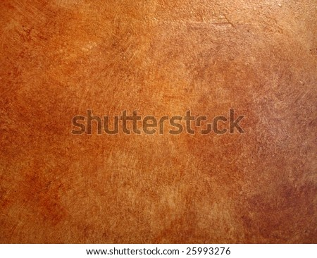 A red leather faux finish background wall. - stock photo