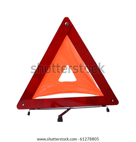 A red reflecting safety triangle is visible for long distances