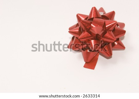 A Red Ribbon against a white background