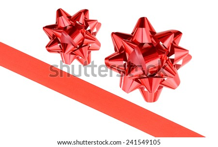 A red ribbon and bow