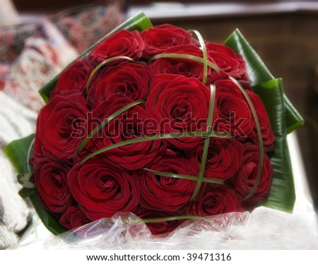A red rose wedding bouquet