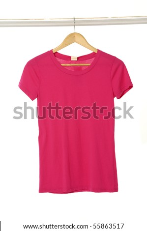 A red-shirt on a hanger - stock photo