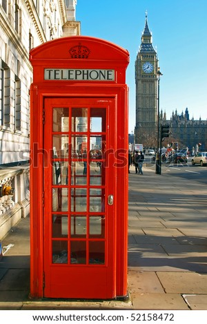 A red telephone booth London - stock photo