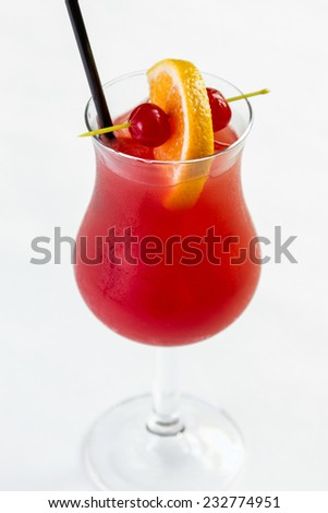 A refreshing Hurricane cocktail - stock photo