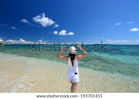 A relaxed woman - stock photo