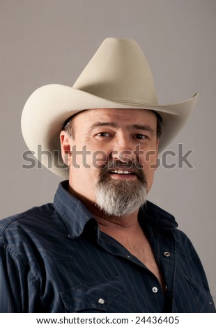 A remnant of the old west, a modern American cowboy - stock photo