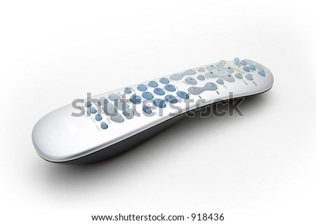 A remote with a white background - stock photo
