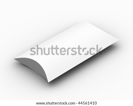 A render of a blank package box - stock photo