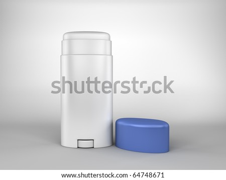 A render of a deodorant bar on white - stock photo