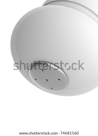 A render of a macro from an isolated salt shaker upside down - stock photo