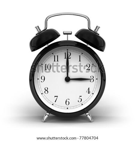A render of a vintage alarm clock - stock photo