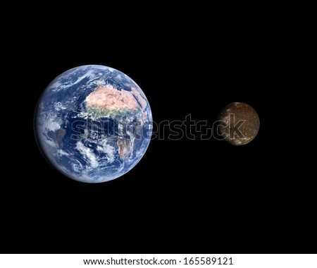 Solar System Planet Alien On Black Stock Illustration ...