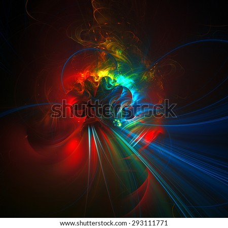 A rendezvous with Comet abstract illustration - stock photo